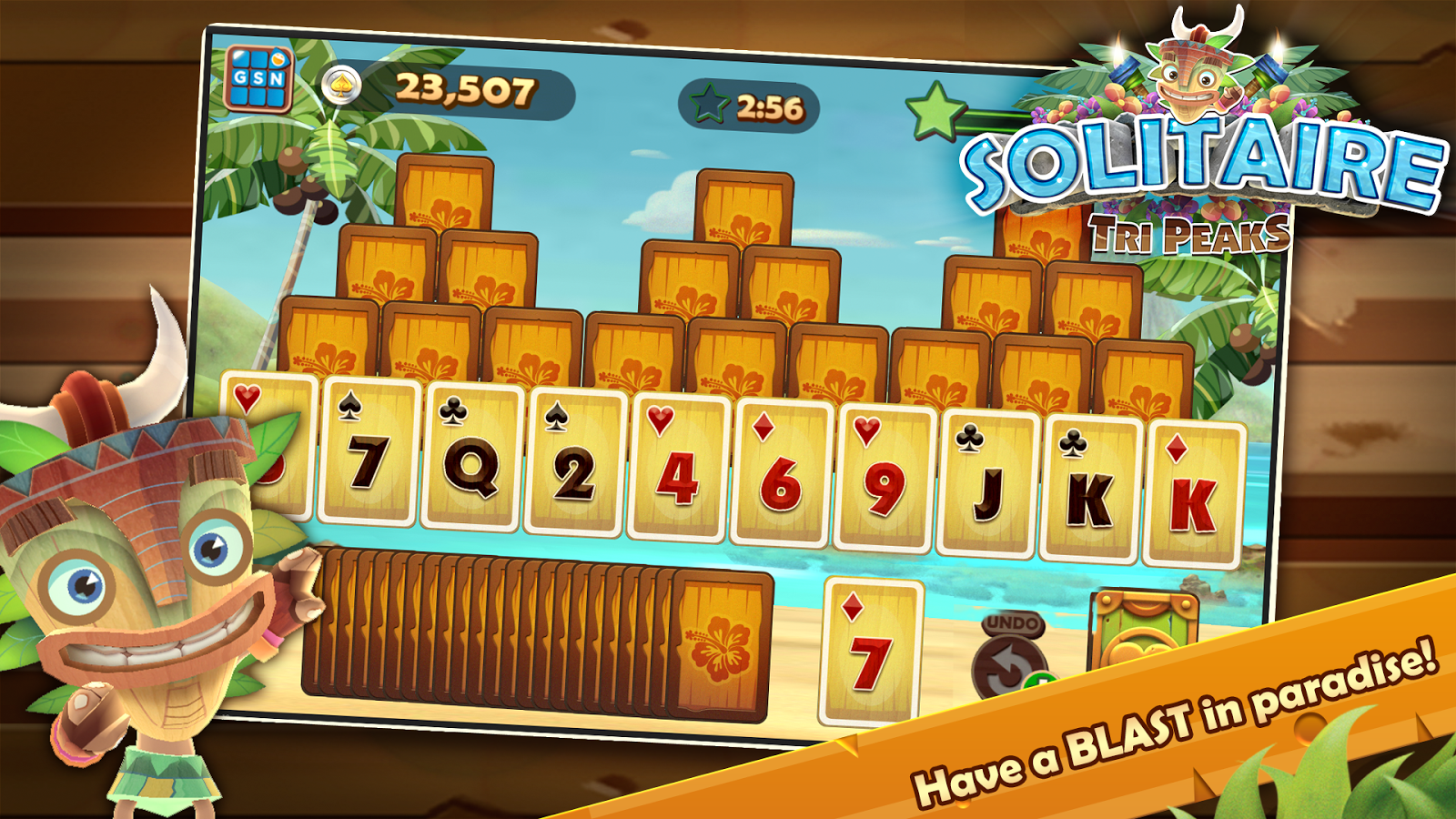play tripeaks solitaire online