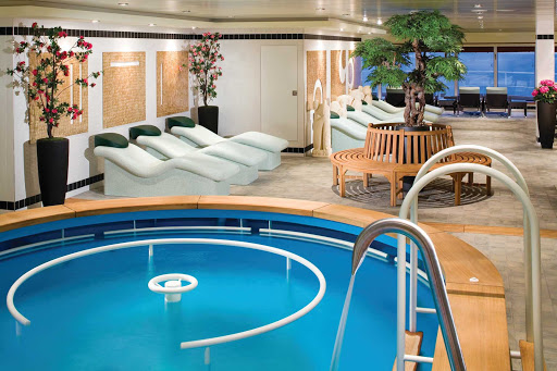 Norwegian-Gem-Therapy-Pool - Have a relaxing dip in Norwegian Gem's Hydrotherapy Pool on deck 12. Comfortable lounge chairs also await guests.