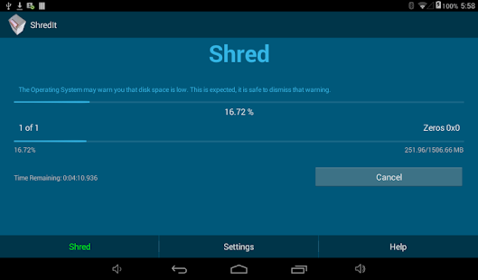 ShredIt Mobile Screenshot