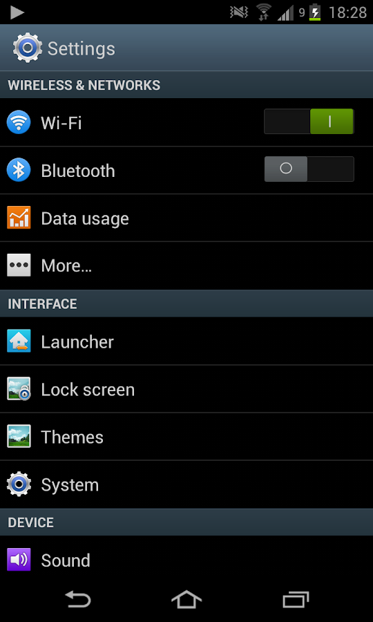 CM11 CM10.2 TouchWiz 5.0 theme- screenshot