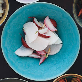 Pickled Daikon and Red Radishes with Ginger.