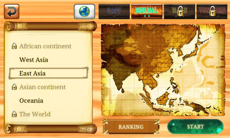 ハマる!覚える!世界地図パズル for Smartphone- スクリーンショット
