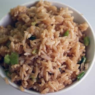 Simple Fried Brown Rice.