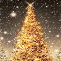 Golden Christmas icon