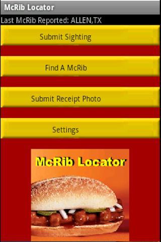 McRib Locator - screenshot