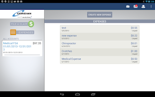 Screenshot of Ceridian Benefits Mobile