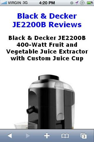 JE2200B Fruit Extractor Review