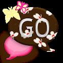 GO SMS THEME/PinkButterflyCPK icon
