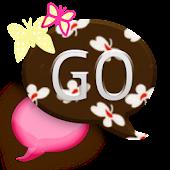 GO SMS THEME/PinkButterflyCPK