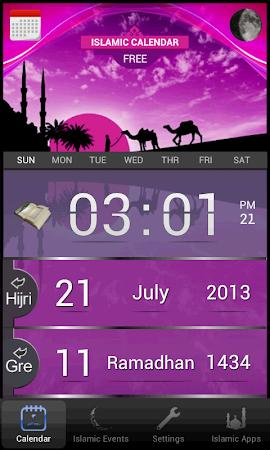 Islamic Calendar (Hijri) Free 1.4 screenshot 417430