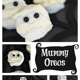 White Chocolate Dipped Mummy Oreo Cookies