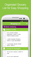 Screenshot of Meal Planning and Grocery List