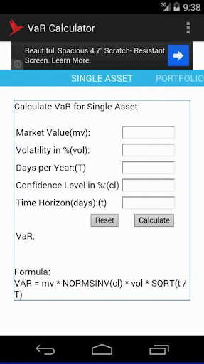 免費財經App|Value at Risk(VaR) Calculator|阿達玩APP