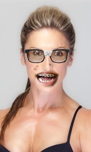 Woman Geek Face Photo Maker