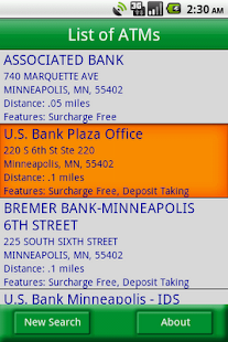 MoneyPass ATM Locator- screenshot thumbnail