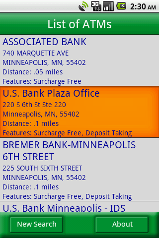 MoneyPass ATM Locator - screenshot
