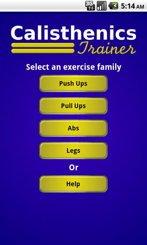 Calisthenics Trainer- screenshot