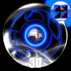 Next 3D Theme Blue Twister 個人化 LOGO-玩APPs