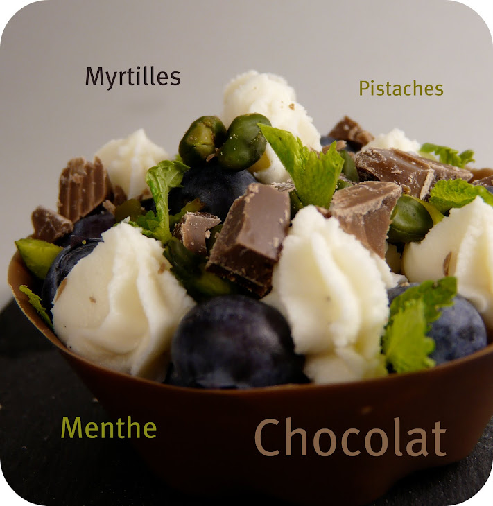 Bluberry-Pistachio Tartletts with Chocolate Shells Recipe