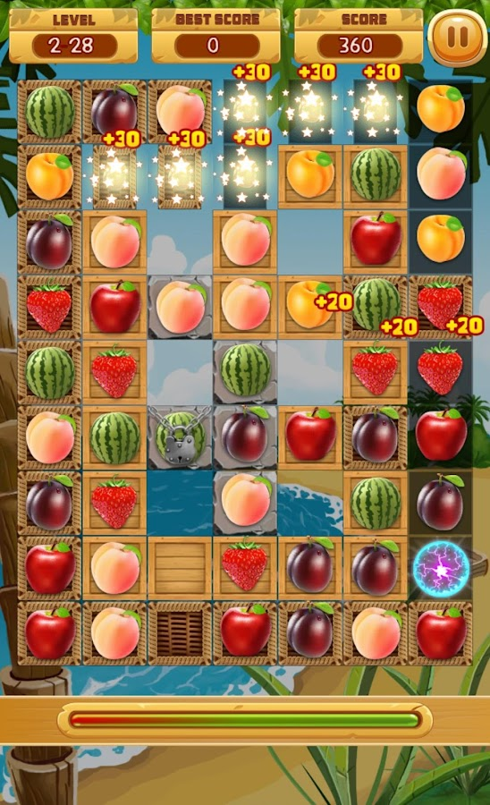 fruit match 3 games
