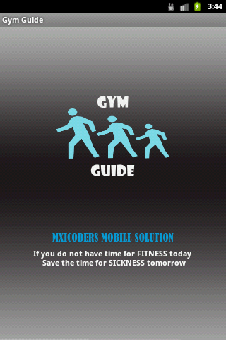 Simple Gym Guide information a- screenshot