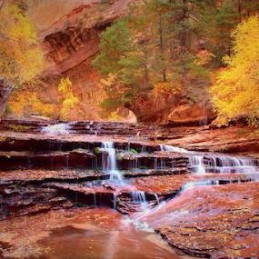 Desert Falls by Blaine Cox - Landscapes Deserts