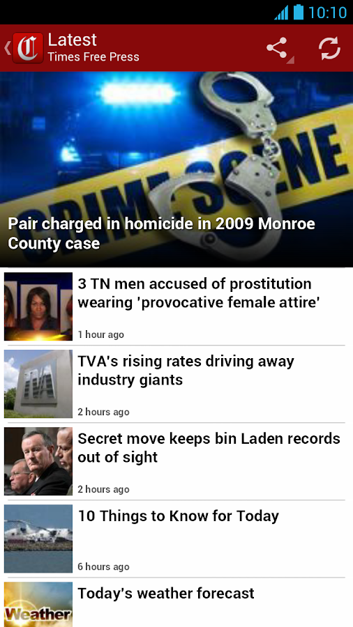 Chattanooga Times Free Press - screenshot