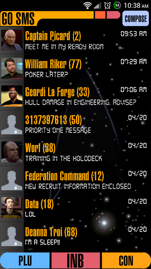 Enterprise Go SMS Pro Theme - screenshot