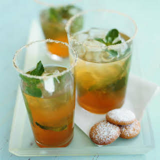 Iced Green Tea with Ginger and Mint.