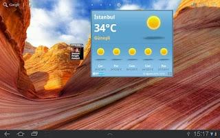 Screenshot of NTV Hava Tablet