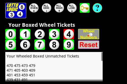Lottery Pick 3 Wheel Generator