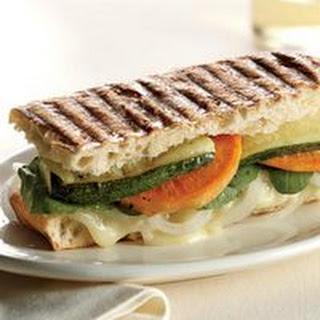 Brie-and-Vegetable Panini.