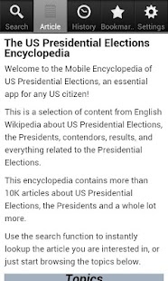 Presidential Elections Facts- screenshot thumbnail