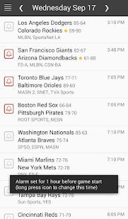 MLB Baseball Schedule Scores