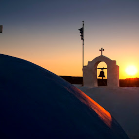Sunset at Agios Ioannis of Paros Island by Giannis Paraschou - Buildings & Architecture Architectural Detail ( sunset at agios ioannis of paros island greece, greek sunsets, st. john paros greece, sunset st. john paros, paros greece, agios ioannis paros, agios ioannis detis, paros island,  )