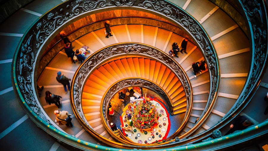 Stairway to heaven by Agnirudra Sikdar - Buildings & Architecture Other Interior ( stairs, rome, architecture, travel, vatican, italy )