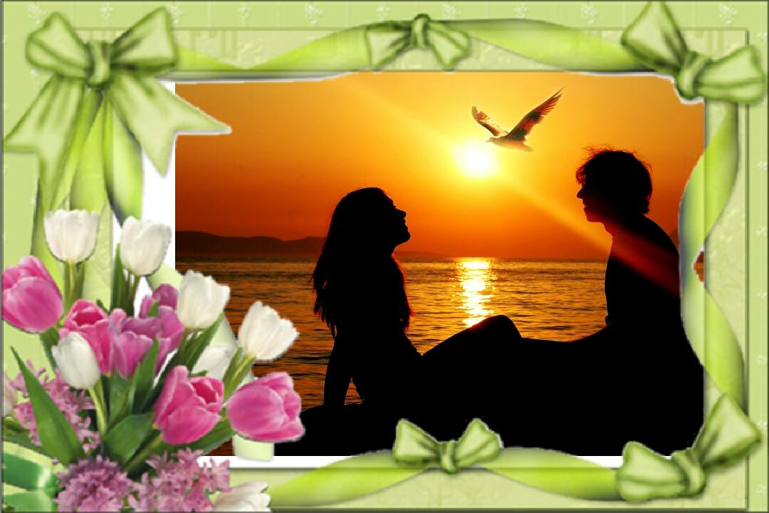 photo frames romantic flower screenshot