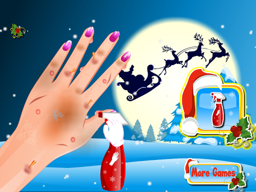 Nail art christmas games