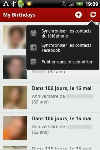 MyBirthdays - screenshot