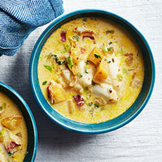 Cod Chowder with Bacon, Butternut Squash & Thyme