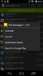 Deinstallierer (Uninstaller) Screenshot