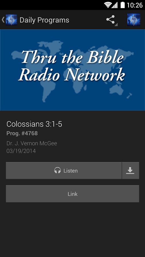 Thru The Bible Radio Network - screenshot