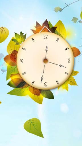 autumn clock live wallpaper