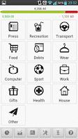 Screenshot of Money Keeper Free