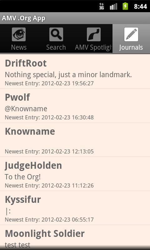 AMV .Org App- screenshot