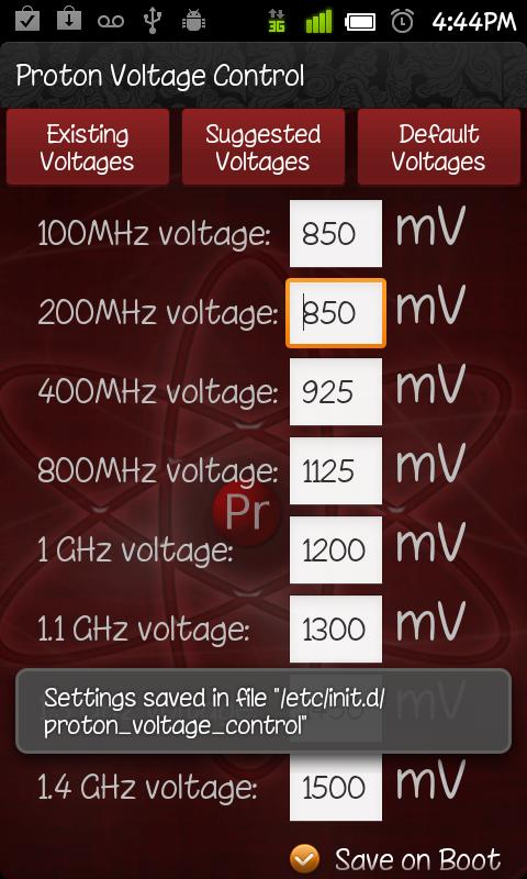 Proton Voltage Control - screenshot