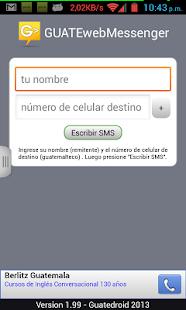 GUATEwebMessenger - Free SMS- screenshot thumbnail