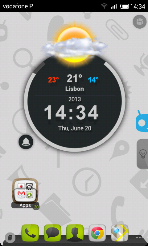 TSF Shell Cyanogen Light HD - screenshot