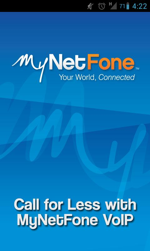 MyNetFone VoIP - screenshot