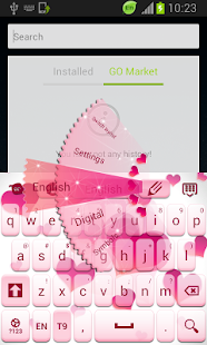 粉紅色的愛鍵盤|玩個人化App免費|玩APPs
